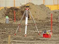 着工、地盤調査